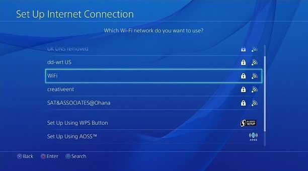 ps4 no conecta a wifi