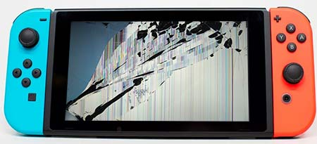 reparacion pantalla rota nintendo switch