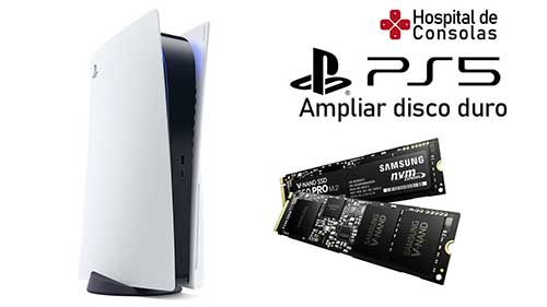 Ampliar disco duro PS5